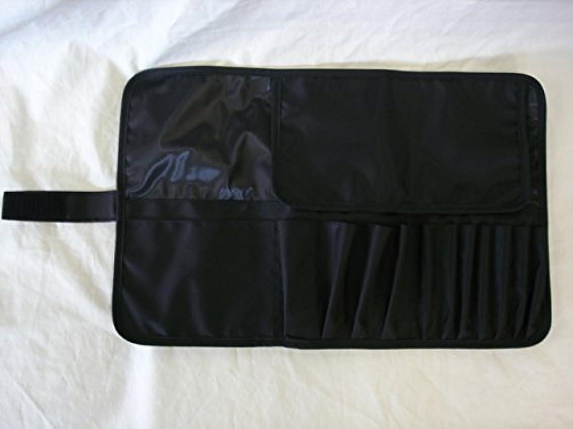 有害酸化物思想日本製 メイクブラシケース12ポケット付 Lサイズ ブラック