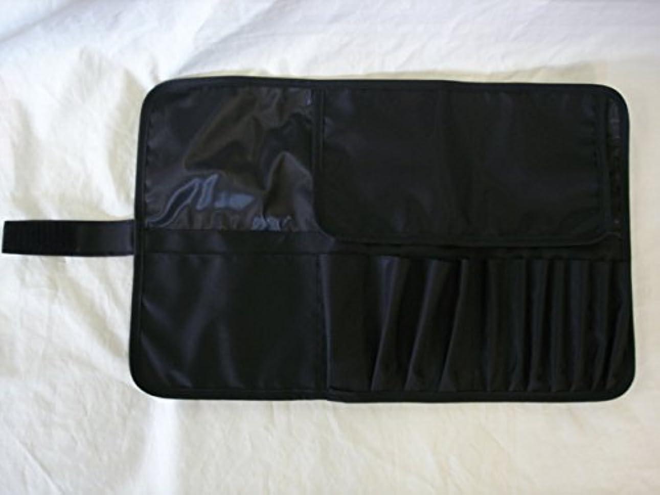 主権者クレーター小石メイクブラシケース12ポケット付 Lサイズ ブラック