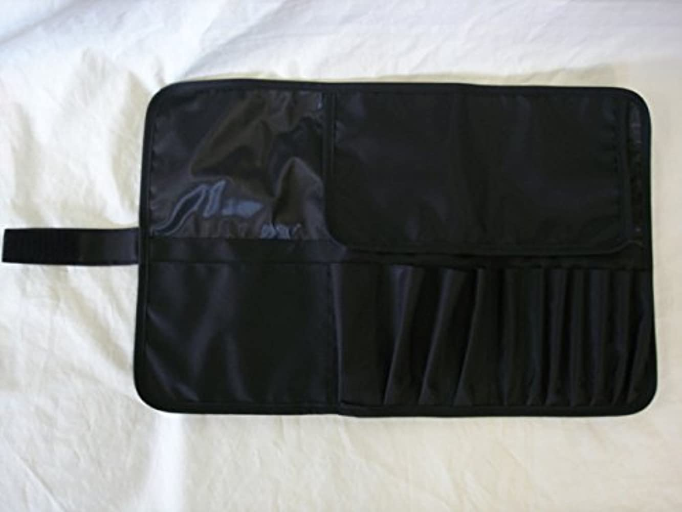 あらゆる種類の端末物理日本製 メイクブラシケース12ポケット付 Lサイズ ブラック