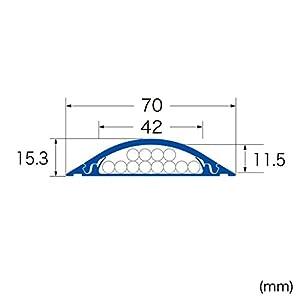 SANWA SUPPLY CA-R70GY ケーブルカバー(グレー)