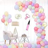 マカロンバルーン 可愛い風船 ベビーシャワー 100日 半歳 1歳 誕生日お祝い 結婚式パーティー飾り付け 幼稚園 部屋装飾