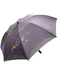 日傘 女優日傘 ショップチャンネル 完売 ショート日傘 完全遮光 遮熱 UVカット かわず張り 涼しい 晴雨兼用傘 特殊2重張り 四君子 刺繍