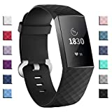 adepoy Compatible with Fitbit Charge 3 Bands for Women Men Large Small, Adjustable Replacement Wristbands for Fitbit Charge 3 and Fitbit Charge 3 SE, 3 Pack