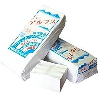 【水に流せる平判ちり紙】マキのアルプス 1500枚×6パック入 安心のセミハードタイプのチリ紙! 水洗トレイに流せます! 再生紙100% 漂白剤・蛍光剤は未使用 安心の国産品(岐阜県美濃市にて製造) チリ紙 おとし紙