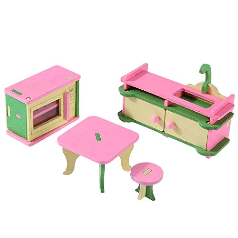 highplus おもちゃ おままごと ミニ家具 木製家具 知育玩具 子供のおもちゃ 木製家具セット おままごとおもちゃ