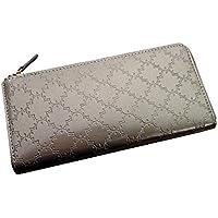 【Saint Mode】長財布 レディース 上品で可憐な幾何学柄を型押ししたガラス革のロングウォレット