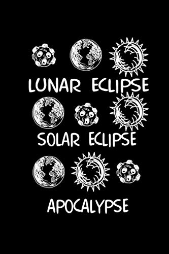 Notebook: Apocalypse Halloween eclipse gifts 120 Pages, 6x9 Inches, Graph Paper