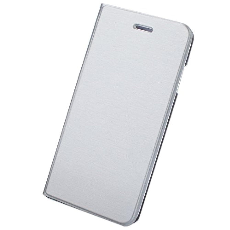 超音速打倒共和党【F-grip】 iPhone6 Plus ケース / iPhone6s Plus ケース 薄い 手帳型 カバー カードポケット スタンド機能 (iphone6 Plus, シルバー)