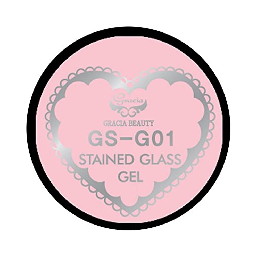 後者再生デッキグラシア ジェルネイル ステンドグラスジェル GSM-G01 3g  グリッター UV/LED対応 カラージェル ソークオフジェル ガラスのような透明感