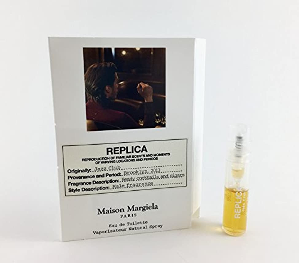 フィラデルフィア洞察力のあるパワーReplica - Jazz Club (レプリカ - ジャズ クラブ) 0.05 oz (1.5ml) Fragrance Sample (メーカーサンプル) for Men