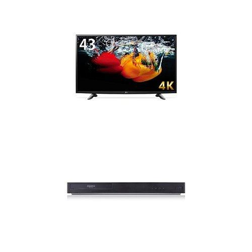 LG 43V型 4K 液晶テレビ 43UH6100 & LG 4Kブルーレイプレーヤー HDR対応 UP970 セット