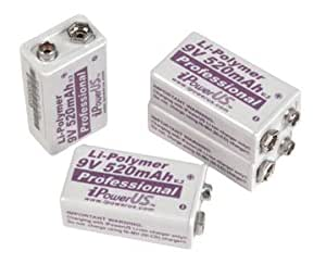 iPower リチウムポリマー充電池 9V/520mAh(4個パック) 【並行輸入品】