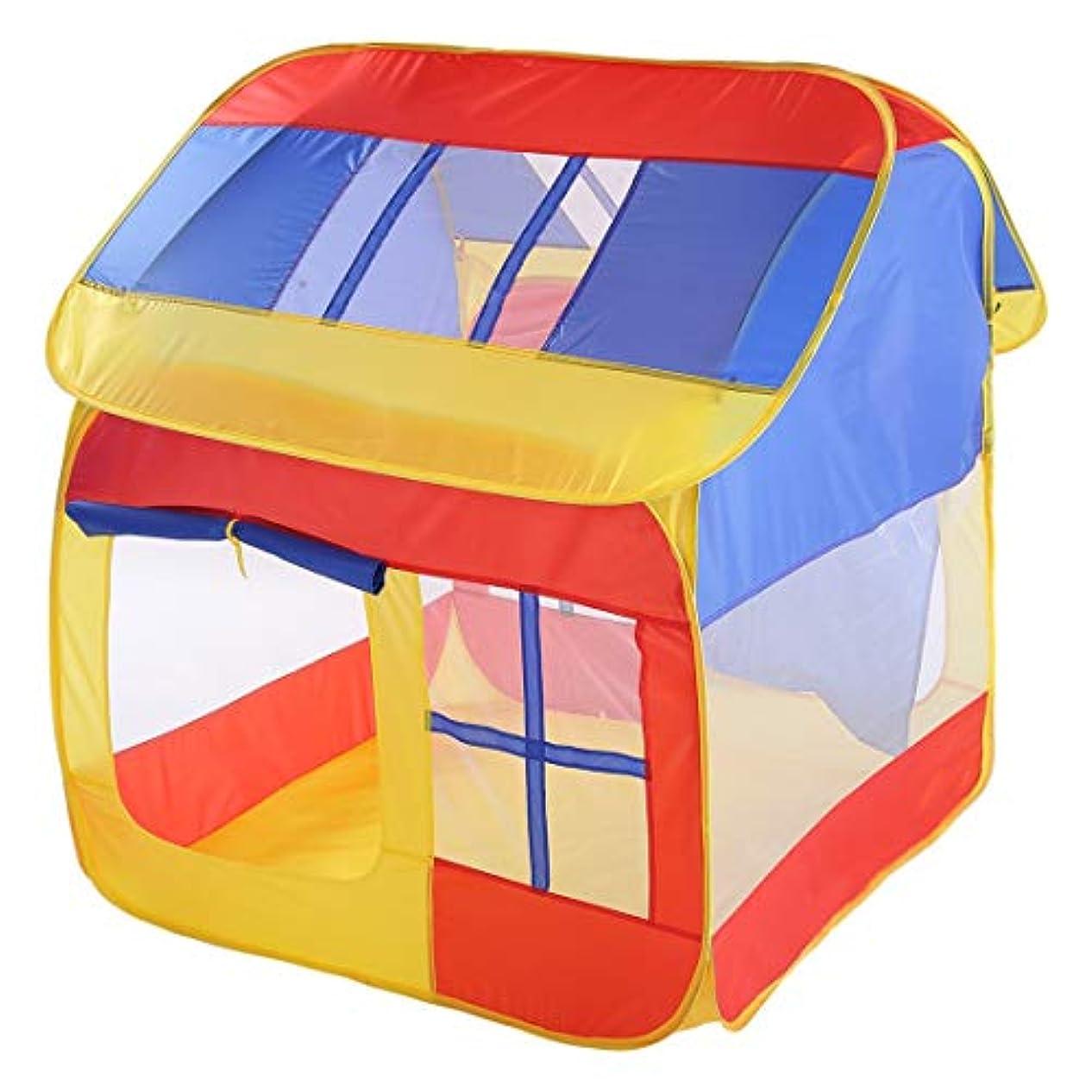 性格水分振るうKAKACITY 子供たちの遊びテントハウスタイプの子供屋内劇場のおもちゃルーム折り畳み式 (色 : レッド)
