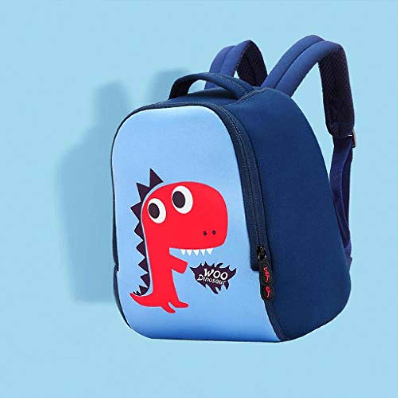 CXQ かわいい子供の学校のバックパック青いリトル恐竜の漫画1?6歳の少年少年学校のショルダーの小さな袋 (Size : M)