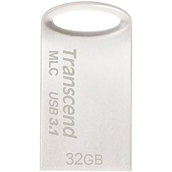 Transcend USBメモリ MLC採用 32GB USB3.1 & USB 3.0 キャップレス シルバー 耐衝撃 防滴 防塵 2年保証 TS32GJF720S