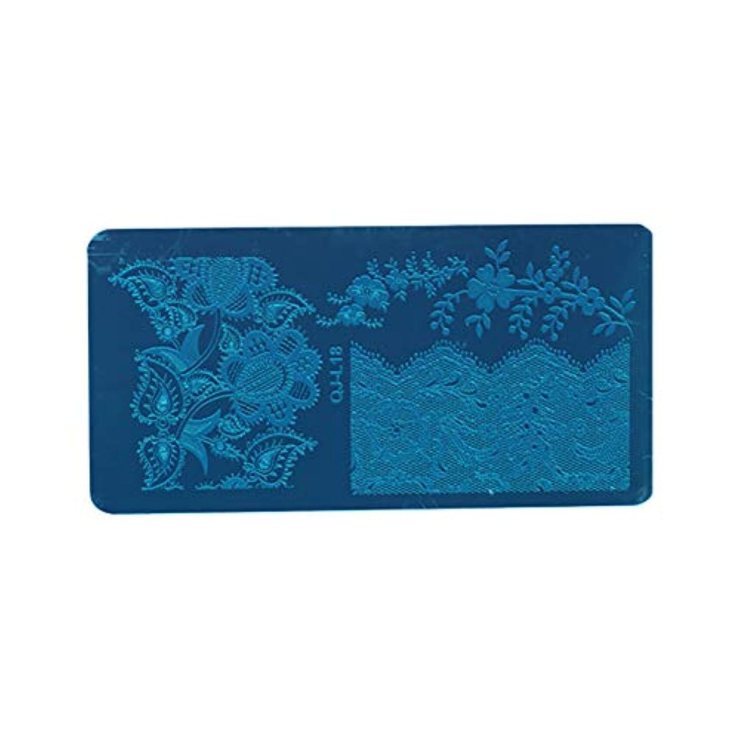キルス絶え間ないクラスDigakdog ネイルイメージプレート ヨーロッパ エレガント 花柄 スタンピングイメージプレート ネイルアートツール 家庭 ネイルサロン プレゼント 1枚