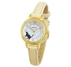 [キャットミント] catmint 猫の腕時計 「肉球スタンプ」 (アイボリー)