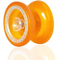 ヨーヨー,MAGIC YOYO マジックヨーヨー K1スピンABSヨーヨー 新しいPVC専門なヨーヨー玩具 ハブスタック オレンジ色