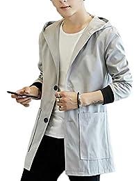 gawaga ジャケットのフード付きの軽量ウインドブレーカーの屋外の男性の風防