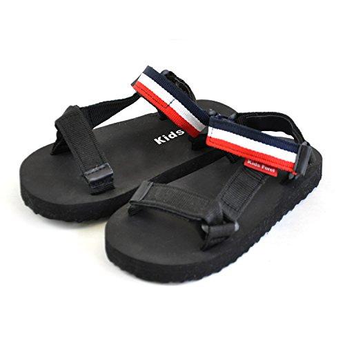 Kids Foret キッズフォーレ キッズベルクロバンドスポーツサンダル ビーチサンダル スポサン ベルト コンフォート マジックテープ シューズ 靴 軽量 KIDS|18.0cm トリコロール
