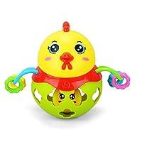 赤ん坊子供、ねり歯みがきがらがら赤ん坊チャイムトーンシェーカーおもちゃよちよち歩きの幼児音教育的子供赤ん坊おもちゃのためのかわいい友人タイプがたつきボールおもちゃは、ボールを贈る