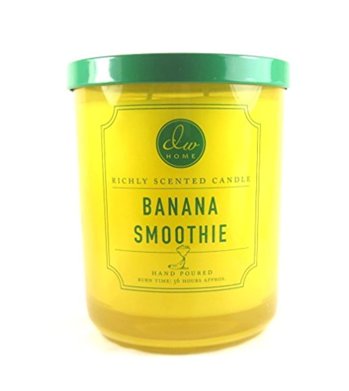 柱ジャーナル豪華なDWホームDecoware豊かな香りCandle Large Double Wick 15.48 Oz D Banana Smoothie