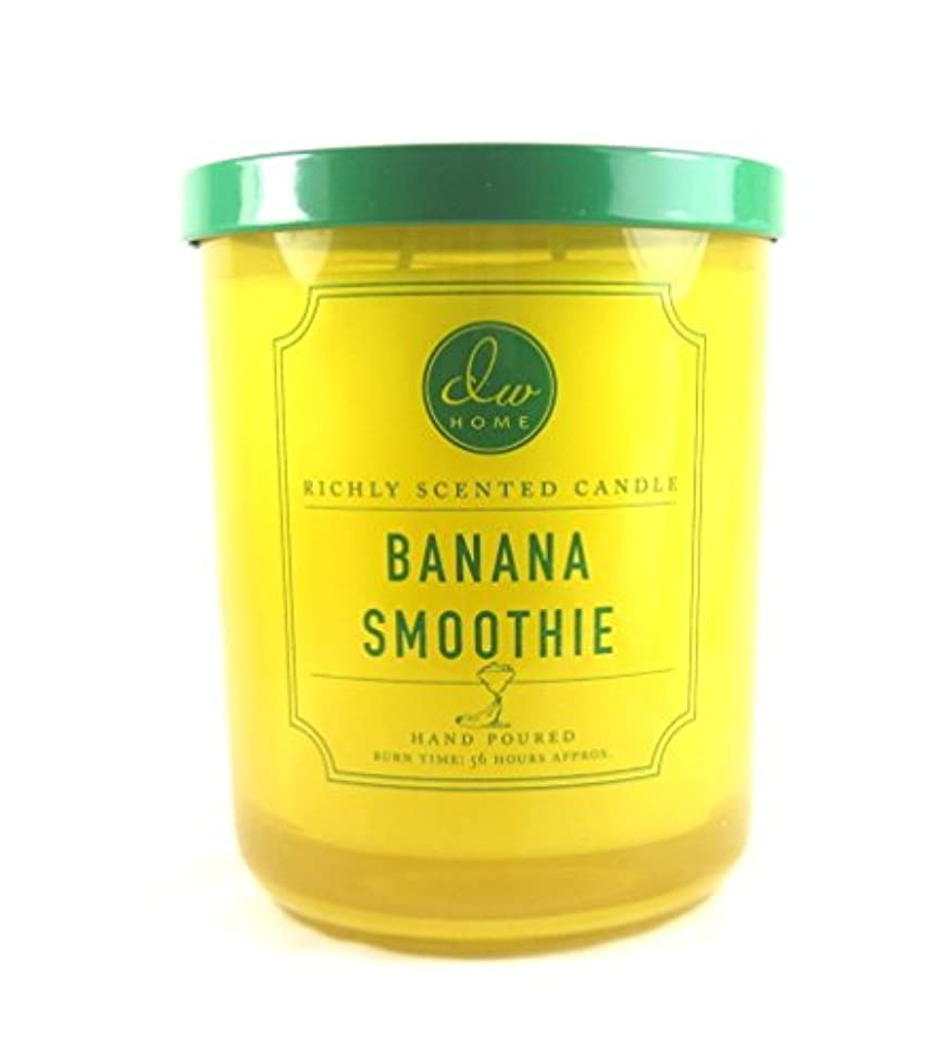 抵抗力がある書士ボスDWホームDecoware豊かな香りCandle Large Double Wick 15.48 Oz D Banana Smoothie