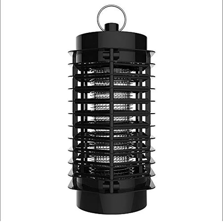 一緒爪一ZEMIN 蚊ランプ電撃殺虫灯 誘虫灯 プラグイン 忌避剤 屋内 ミュート やわらかい光 睡眠、 3W (色 : ブラック, サイズ さいず : 11x11x22cm)