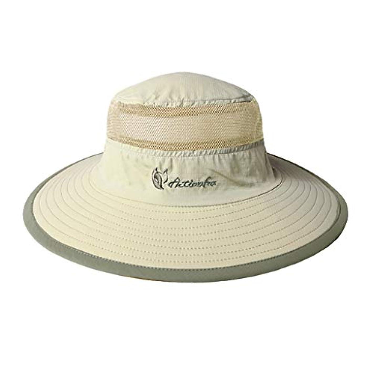 農業の委託結び目日焼け止めの漁師の帽子男性プラス長い洗面器の帽子速乾性の生地日焼け止めの水分吸湿発散頭の周囲 (Color : B)
