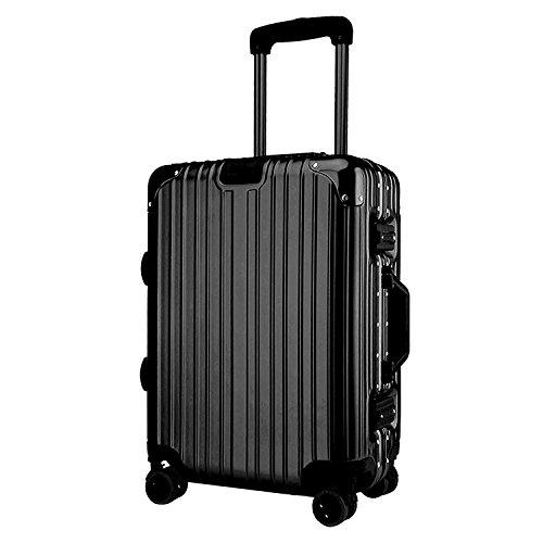 (アスボーグ)ASVOGUE スーツケース キャリーケース TSAロック 鏡面仕上げ アルミフレーム 旅行 軽量 ファスナーレス Lサイズ(約61リットル )4~7泊以上