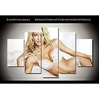 Girlモデル印刷ポスターキャンバス装飾5ピース