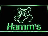Hamm's BeerLED看板 ネオンサイン ライト 電飾 広告用標識 W60cm x H40cm グリーン