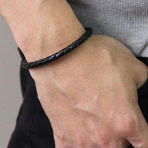 コランコラン 粋(IKI) ブレスレット colancolan マイナスイオンブレスレット (Mサイズ(18.5cm), ブラック)