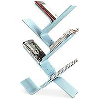 北欧木製マガジンラック オフィスランディング 新聞ラック クリエイティブ 子供用 本棚 リビングルーム シンプルラック ブルー