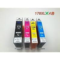 HP(ヒューレットパッカード)  HP178 XL 互換 4色入り 増量タイプ 残量表示ICチップ搭載 FFPパッケージ仕様