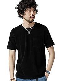 [ナノユニバース] ショートリングパイルTシャツ メンズ