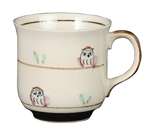 みのる陶器 いろは窯 軽量マグカップ ふくろう PK