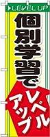 個別学習でレベルアップ のぼり旗 GNB-66