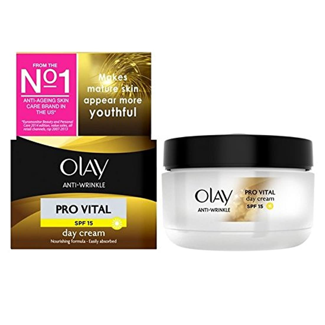 胃省略する起きるオーレイ抗しわプロ重要な保湿デイクリーム成熟した肌50ミリリットル x4 - Olay Anti-Wrinkle Pro Vital Moisturiser Day Cream Mature Skin 50ml (Pack...
