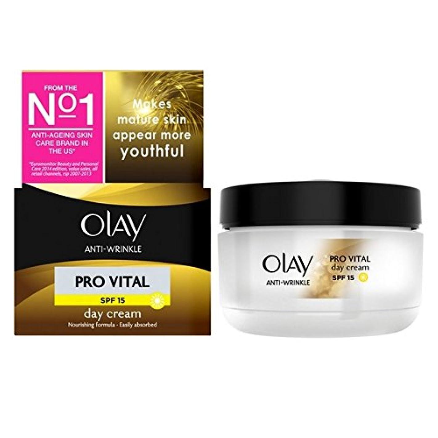 巻き取り流星散文オーレイ抗しわプロ重要な保湿デイクリーム成熟した肌50ミリリットル x4 - Olay Anti-Wrinkle Pro Vital Moisturiser Day Cream Mature Skin 50ml (Pack...
