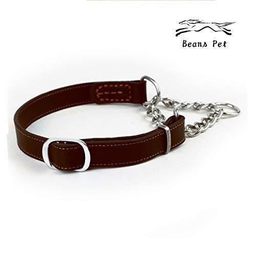 Beans Pet 犬 首輪 ハーフチョーク 本革 中型犬 大型犬 スタンダード 機能性 トレーニング 可愛い オシャレ 高品質 丈夫 2枚目のサムネイル