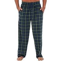 Alexander Del Rossa Mens Fleece Pajama Pants, Long Microfiber Pj Bottoms