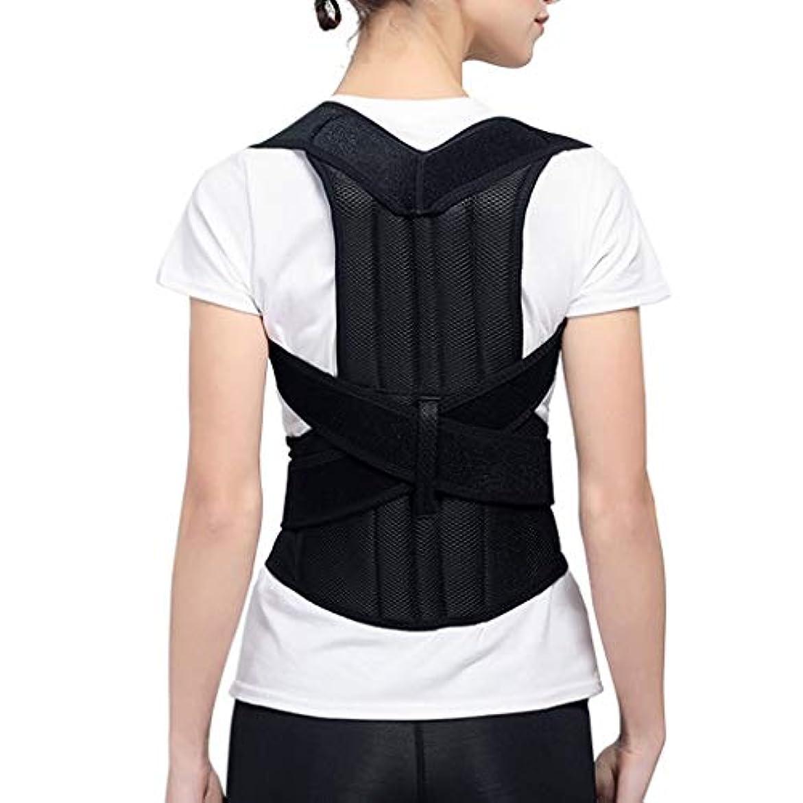 腰椎矯正ベルト脊椎固定ベルト座位姿勢矯正肩ストレッチ背中圧迫軽減通気性コンフォートキールサポート調節可能一般 (Size : L)