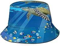 海のカメの男性/女性漁師の帽子釣りの園芸のためのブニー帽子広いつばバケツの帽子