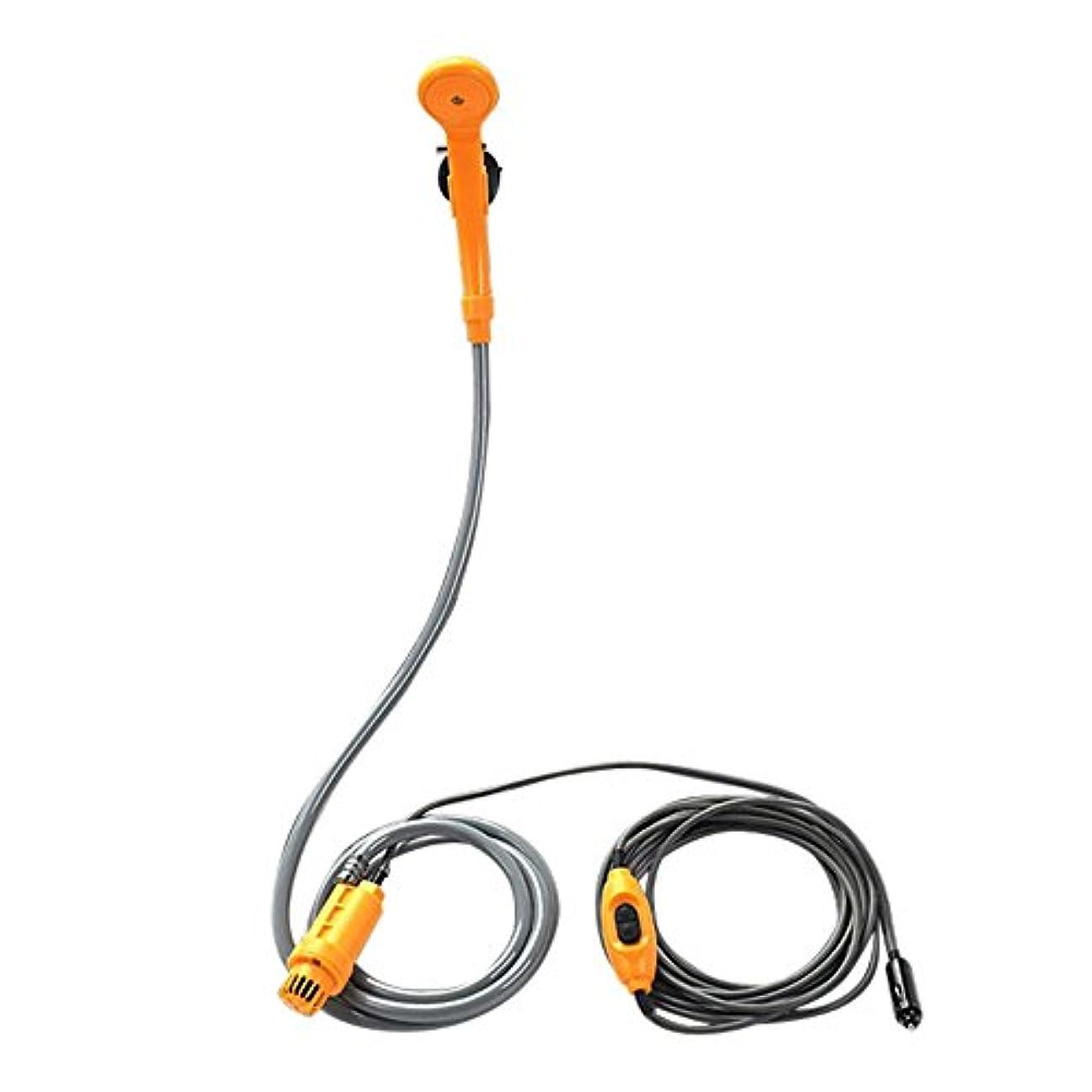 ブローホール公平量でポータブルシャワー シガーソケット対応 (ladyclare) 簡易シャワー 12V 水量調整機能 サーフィン 海水浴 キャンプ シガーソケット