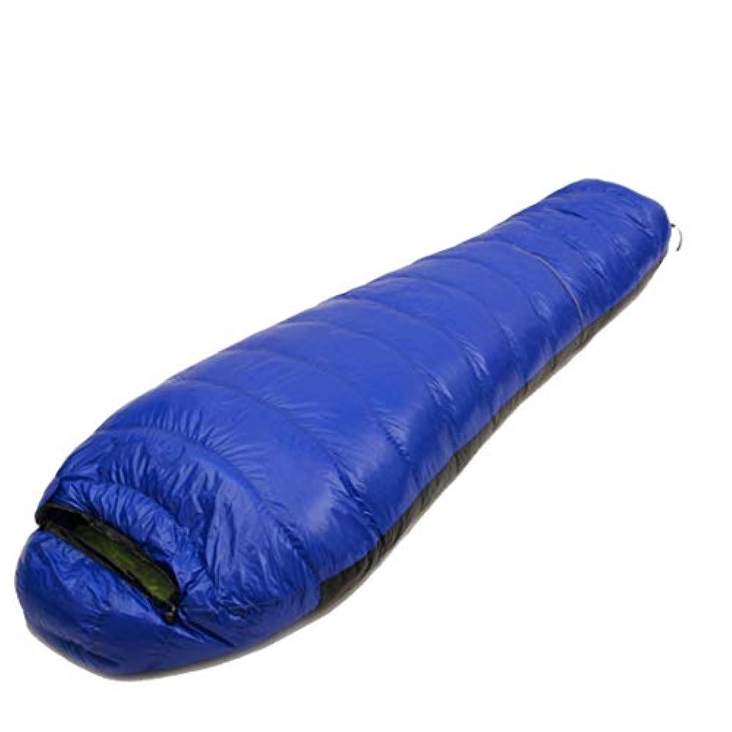 エントリかなりのルーWazenku 圧縮袋 キャンプ 超軽量 寝袋 (色 : 青, サイズ : 1500g)