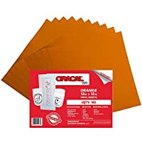 Oracal 651 Orange Adhesive Craft Vinyl for Cricut, Silhouette, Cameo ((10) Sheets)