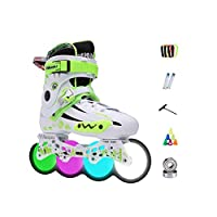 Ailj インラインスケート、 アダルト 単列スケート プロの男性と女性 スケート 子 フルフラッシュ ローラースケート フルセット(3色) (色 : Green, サイズ さいず : 41 EU/8 US/7 UK/25.5cm JP)