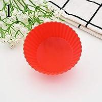 ケーキ型 - 1個ラウンドスターハートシリコンカップケーキ型ひげマフィンカップケーキベーキングモールドライナーペストリーモールド - ボー