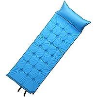 肥厚シングルマット自動インフレータブルクッション屋外テントマットグレーグリーンブルー192X69X3.8cm (色 : Blue)